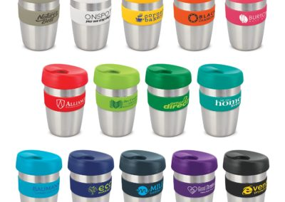 STAINLESS STEEL + SILICON BAND COFFEE CUPS